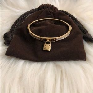 Gold Locket Michael Kors Bracelet